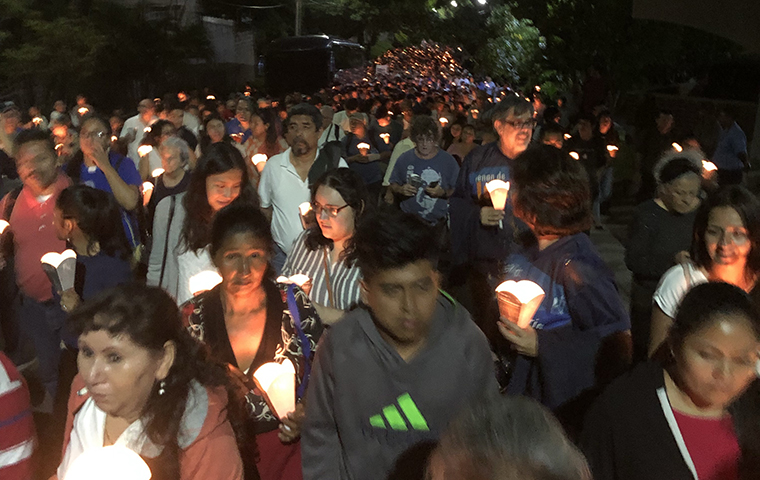 Candlelight vigil for 30th Anniversary of Jesuit Massacre in El Salvador image link to article