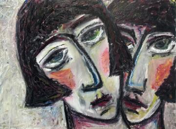 Two Women by Artist Susan Babbel