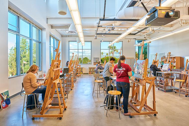 Painting class in Dowd image link to story