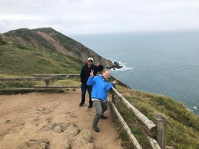 Thomas and Claire doing fieldwork at Pt. Reyes, CA