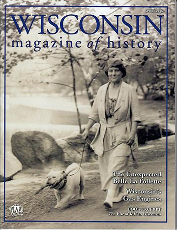 Wisconsin Magazine of History cover - Spring 2016