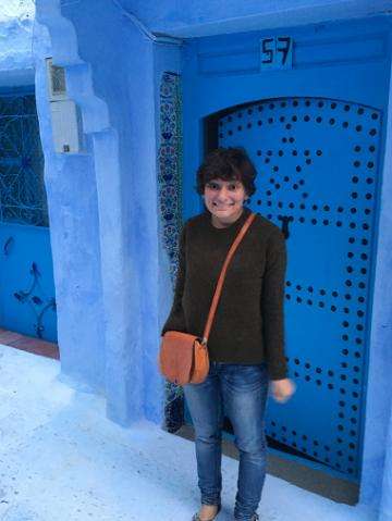 Laura in Chefchaouen, Morocco.