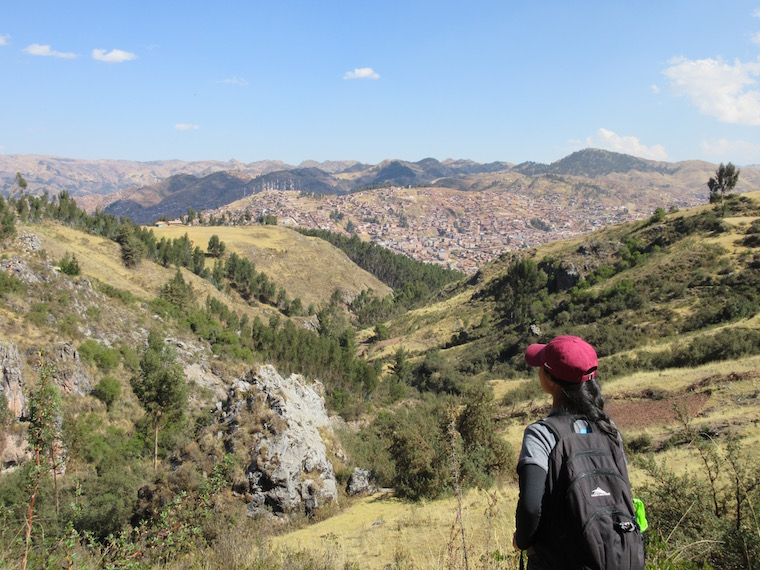 Athena did a day hike in the mountains of Cusco.