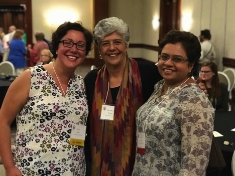 Pearl Barros, Ana Maria Pineda, RSM, Susan Abraham (Pacific School of Religion) at the Women's Consultation Group in Constructive Theology Meeting
