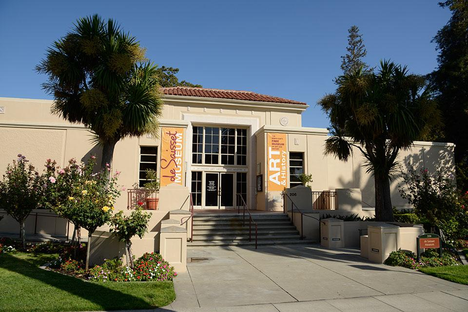 View of de Saisset Museum on Santa Clara University campus.