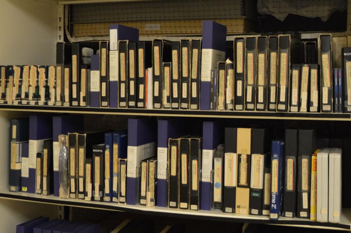 New media collection shown stored in collections vault.