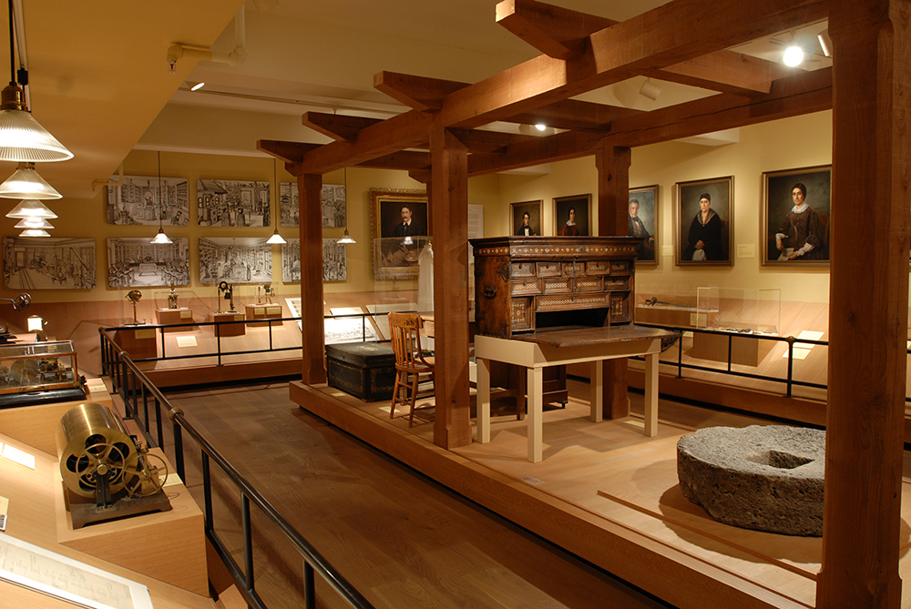 Installation view of objects related to the California Ranchos.