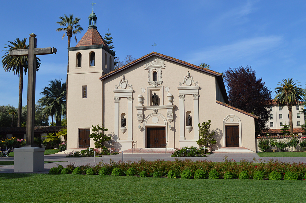 Image of the exterior of Mission Santa Clara.