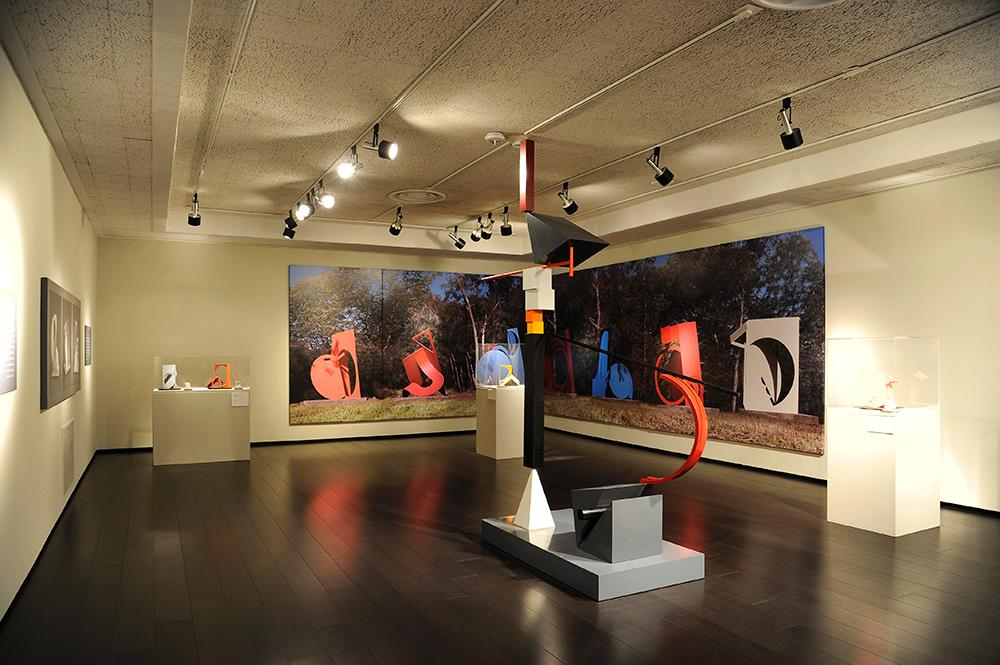 Installation view of Fletcher Benton: The Artist's Studio.