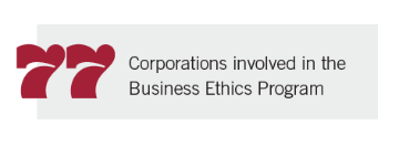 77 corporations involved in the Business Ethics Program
