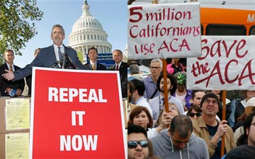 ACA Protests (AP Photo/Damian Dovarganes)  (AP Photo/J. Scott Applewhite)