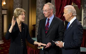Elizabeth Warren getting sworn in