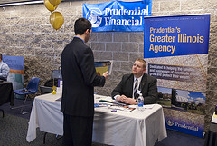 Man tabling for Prudential Financial image link to story