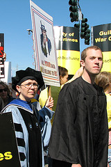 Protest at a graduation image link to story