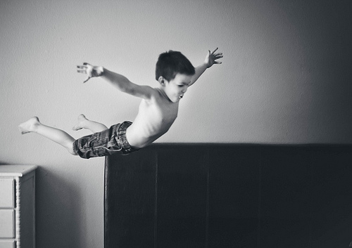 Boy diving in the air image link to story