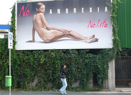 Billboard for anorexia