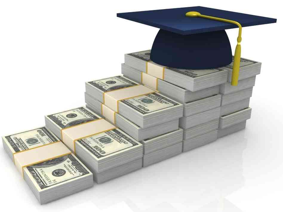 Pile of money with a graduation hat on top image link to story