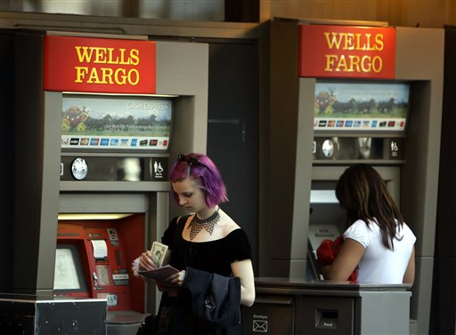 Wells Fargo Automated Tellers (AP Photo/Eric Risberg)