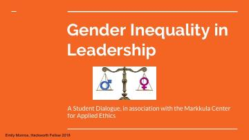 Gender Inequality in Leadership