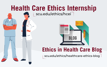 promotional graphic for health care ethics internship