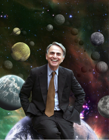 Portrait of Carl Sagan image link to story