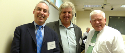 Dan Schnur, Rich Robinson, and Center Executive Director Kirk O. Hanson