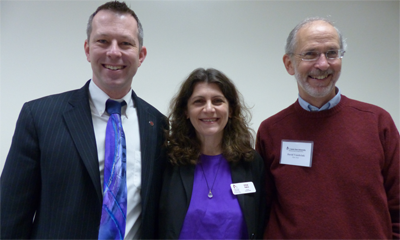 L-R: Jason Baker, Irina Raicu, and David Vossbrink