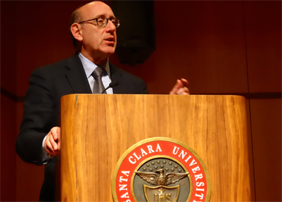 Kenneth Feinberg speaks at SCU on disaster ethics.