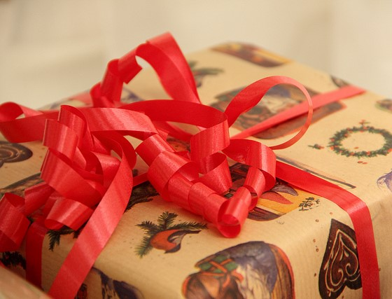 wrapped Christmas present