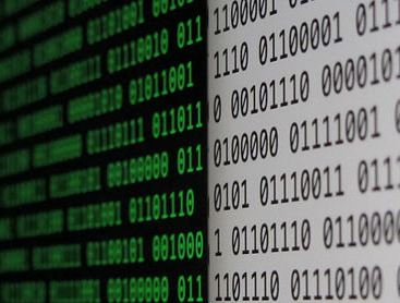 binary code on a screen