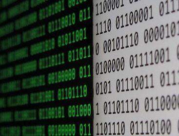 binary code on a screen