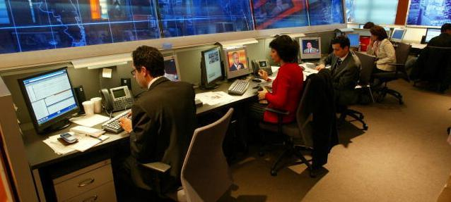 A view inside the Middle East Broadcasting Networks newsroom