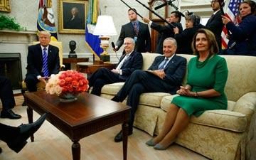 Trump, McConnell, Schumer, and Pelosi in the Oval Office