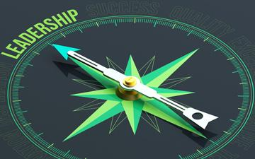 Compass Pointing to Leadership