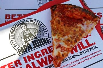Slice of cheese pizza from Papa John's. (AP Photo/Charles Krupa, File) image link to story