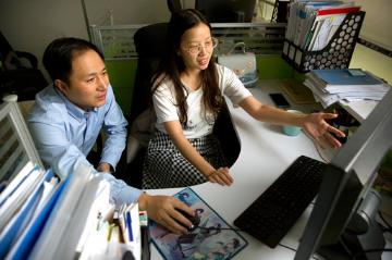 He Jiankui, scientist claiming to help create world's first genetically edited babies He Jiankui, scientist claiming to help create world's first genetically edited babies (AP Photo/Mark Schiefelbein)working in a lab (AP Photo/Mark Schiefelbein). image link to story