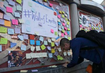 Wall of Empathy in San Franciso (AP Photo/Jeff Chiu). image link to story