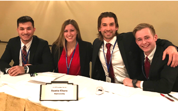 Ethics Bowl winning team 2018: Miles Elliot '19, Daisy Koch '18, Connor Holttum '18, and Jeff Kampfe '19.  image link to story