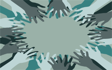 a group of hands forming a circle image link to story