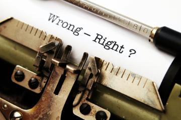 Right vs. Wrong
