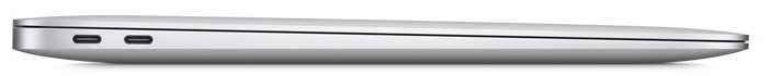 An image of the Apple MacBook Air's left side, showing the 2 USB-C ports available.