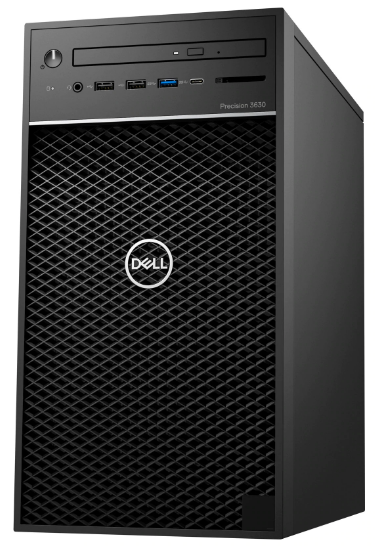 An image of the Dell Precision 3630 minitower computer's front panel.