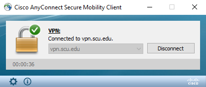 VPN AnyConnect Connected