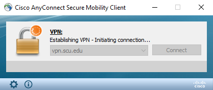 VPN AnyConnect Connecting