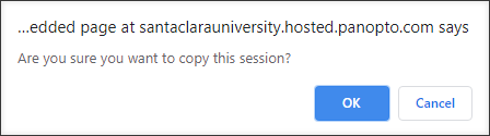 Confirm copying a session