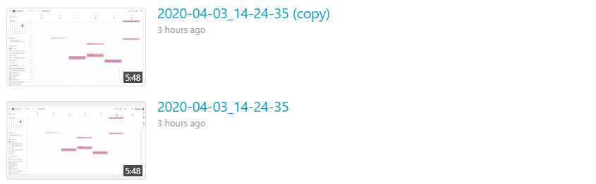 Duplicated videos