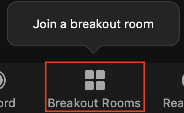 breakout room tile in participant meeting control toolbar