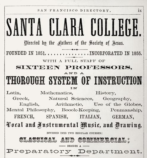 1862: Advertisement for the college