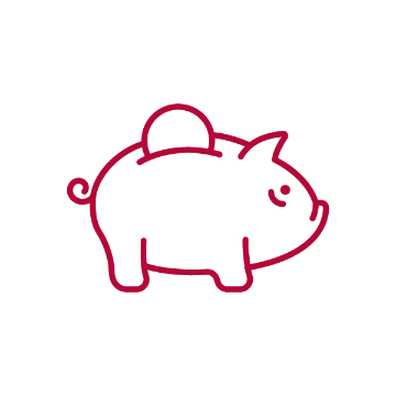 Graphic of piggy bank