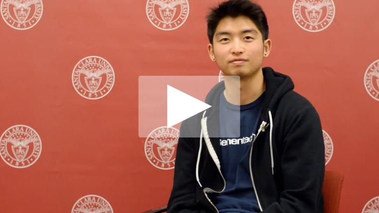 SCU student shares his story video